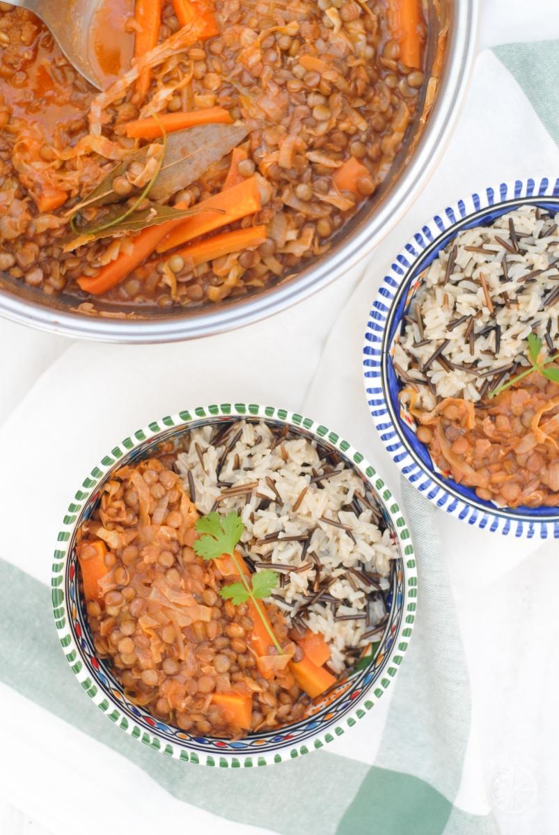 Estufado de lentilhas verdes