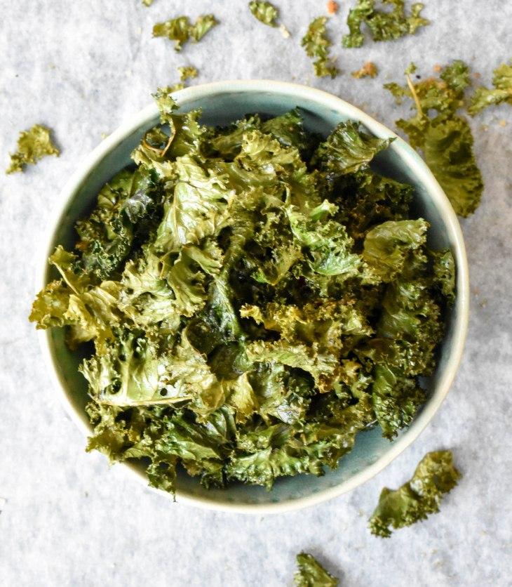 receita de chips de couve kale