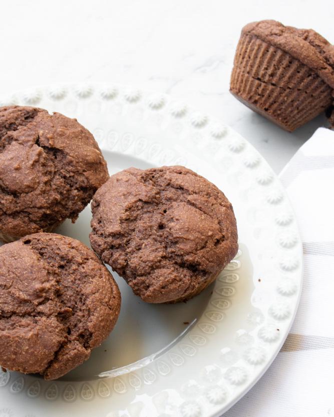 Receita Laranja-Lima Queques de Chocolate e Alfarroba