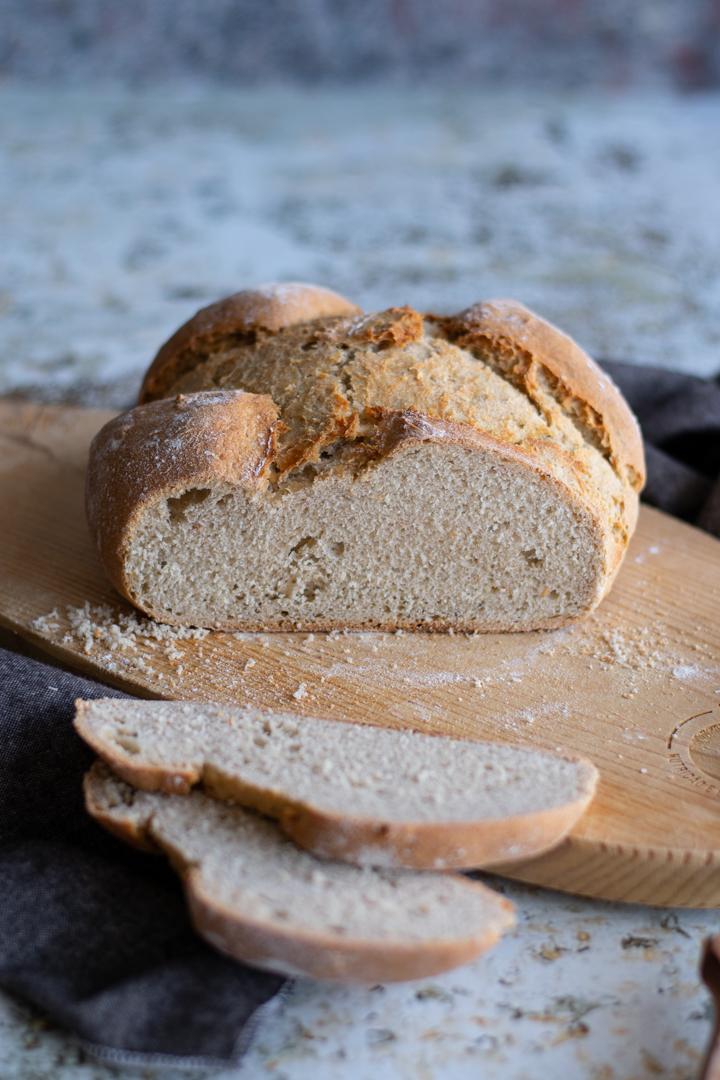 Pão trigo centeio caseiro