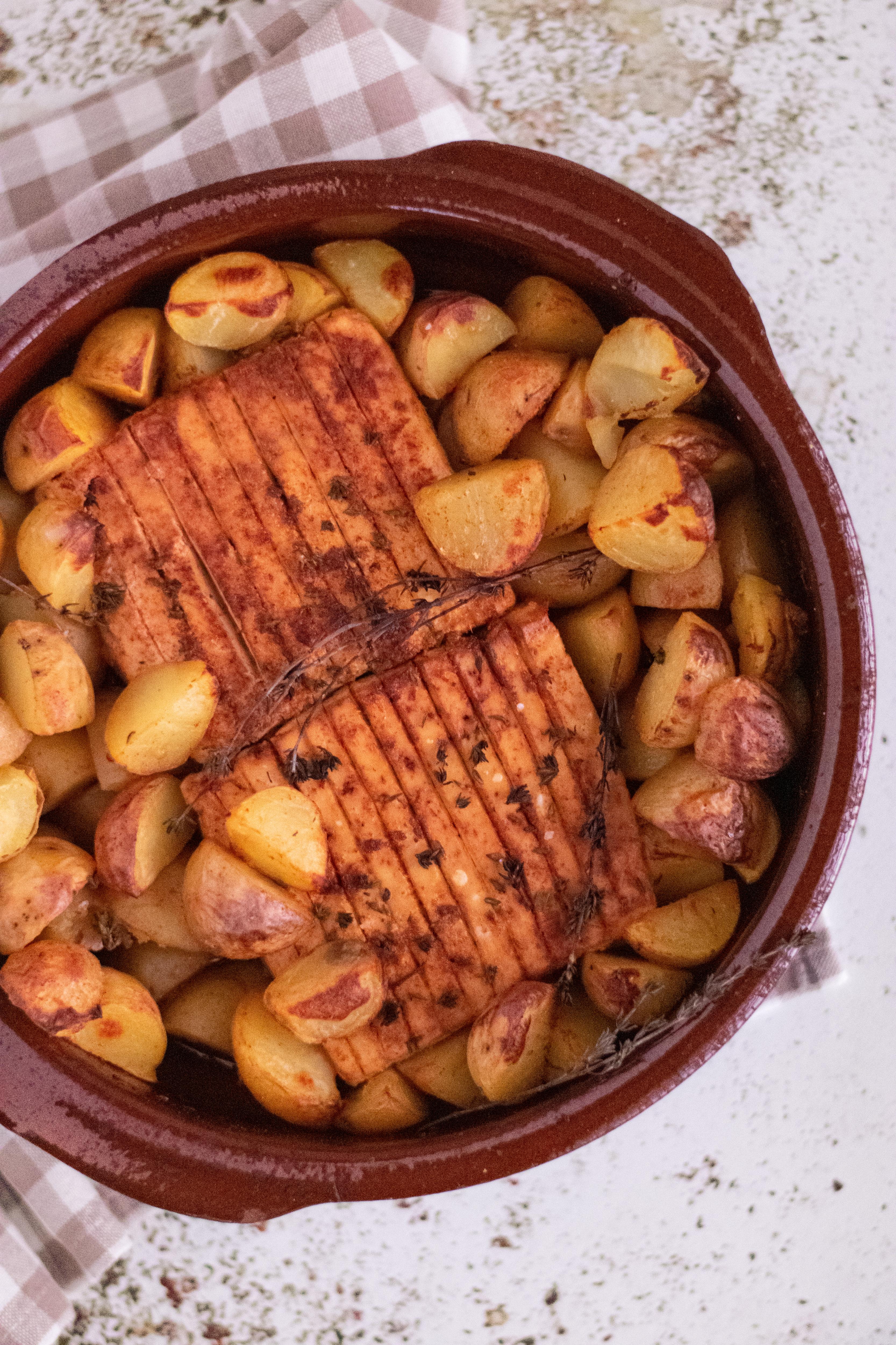 receita de Tofu assado no forno com batatas