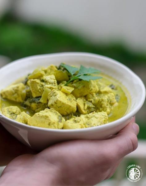 receita de caril Verde de Tofu
